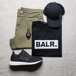 BALR Mens Black Graphic Tee